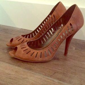 Jessica Simpson - Leather Peep Toe Heel